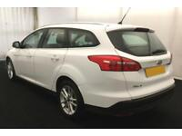 2015 WHITE FORD FOCUS 1.6 TDCI 115 ZETEC DIESEL 5DR ESTATE CAR FINANCE FR £25 PW