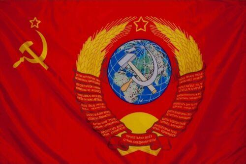 USSR Vintage Original Soviet Republic Flag Hammer & Sickle with coat of arms