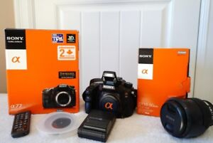 Camera DSRL Sony A-77 and lens