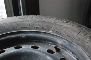 Winter Tires, Tiger Paw Mounted on rims 215/65/R16