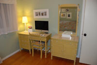 Vintage Thomasville Faux Bamboo bedroom