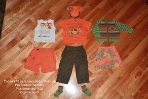 Vêtement garçon de MARQUE été 12-18 mois comme neuf!