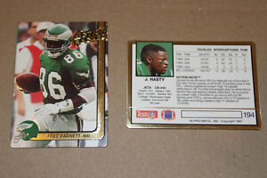 Action NFL football cards