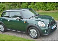 MINI ONE 1 6 DIESEL RACING GREEN 2012 62 1 OWNER AC BLUETOOTH 6 SPEED TAX £0