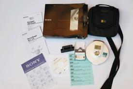 Boxed SONY D-NE900 Cd Mp3 Walkman + Rare Case Logic Discman Bag In Southampton!