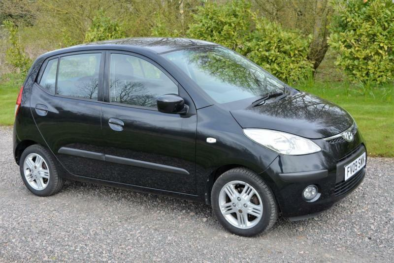 hyundai i10 1 2 comfort 5dr 2009 alloy wheels radio cd player black ac tax 20 in leicester. Black Bedroom Furniture Sets. Home Design Ideas
