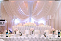 WEDDING AND PARTY RENTALS/CHAIR COVER@ $1.00/ EVENT BRIDAL CHAIR