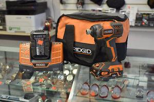RIDGID R86034 18V Cordless Impact Driver + 2 Batts + Charger/Bag