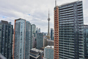 OVERLOOKING CN TOWER & LAKE!! LUXURY FURNISHED 1 BEDROOM CONDO