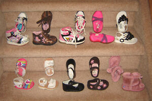 Girls Footwear - sizes 2 to 6, Clothes 6, 6-12, 12, 12-18 mos