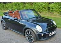 MINI 1 6 COOPER S SIDEWALK CONVERTIBLE BLACK 2007 57 LEATHER 17 ALLOYS PARK AIDS