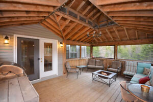Enjoy This INCREDIBLE Screened in Porch In Private Setting