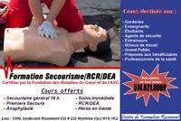 Cours certifié: Premiers Soins/RCR/DEA/Gestion Allergies Sévères