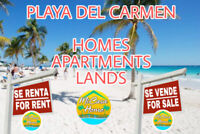 PLAYA DEL CARMEN HOMES APARTMENTS LANDS RENT SALEVACATION
