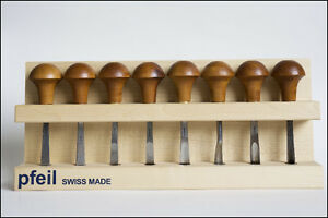 Palm carving tools set of 8 Swiss Made