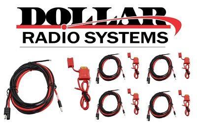 5 Lot Motorola Oem Power Cable Hkn4137 Cdm750 Lcs2000 Mcs2000 M130 Mobiles