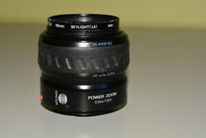 Minolta Power Zoom AF 35-80mm Lens with (1A) Filter, Sony A-moun