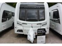 Coachman Pastiche 525, 2014, 4 berth, fixed bunk beds, modern L shaped kitchen