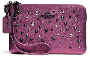 Coach - Brand NEW Leather Wristlet with Star Rivets