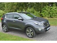 KIA SPORTAGE 3 CRDI 1 7 ESTATE DIESEL 2013 SILVER TWIN GLASS ROOF LEATHER XENONS