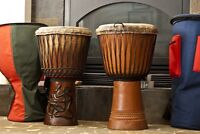 One Djembe drum - authentic, made in Conakry, Guinea