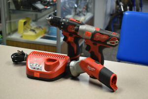 Milwaukee M12 3 Tool Combo Kit, Drill/Impact/Worklight