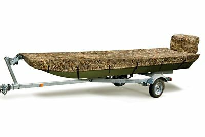 Mossy Oak Marine Camouflage Boat Cover ~ Fits Jon 16 to 18 ft Boats Beam 64 inch