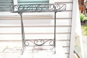 Heavy Iron Plant Stand - $35