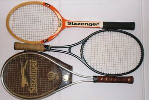 COLLECTABLE VINTAGE SLAZENGER WOOD TENNIS RACKETS