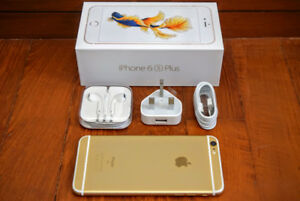 IPHONE 6S PLUS 64GB, UNLOCKED IN BOX WITH ALL ACCESSORIES