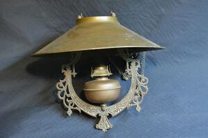 antique karosene hanging oil lamp