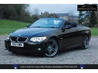 BMW 3 SERIES 320D 181BHP M-SPORT CONVERTIBLE, Black, Manual, Diesel, 2012