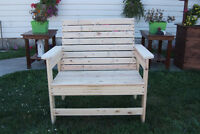 Rustic Outside Furniture - New - Hand Built