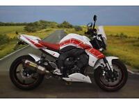Yamaha FZ1 **Akrapovic Exhaust, Braided Hoses, R&G Bobbins**
