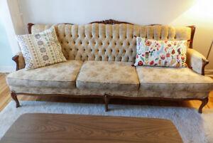 Canapé / sofa / couch 3 places vintage style victorien