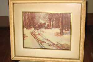 framed print by late Canadian artist Harold McCrea