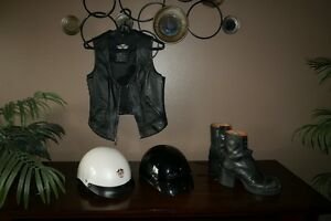 Motorcycle Helmets, Boots, and Vest