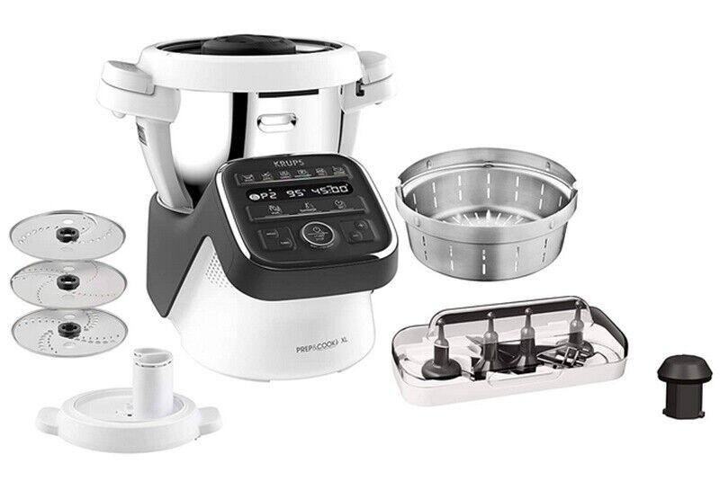 Krups  Prep & Cook XL 1550W Küchenmaschine Kochfunktion 3l ZUBEHÖR 1550 W HP50A8
