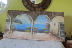 Beautiful large  Summer scene wall hanging