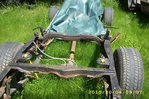 S-10 chassis frame transmission rearend,engine ,rad & suspension