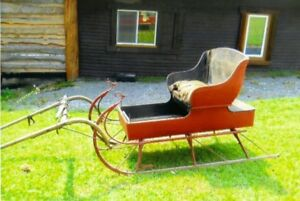 1890's Red Horse Drawn Sleigh