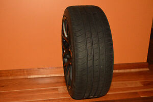 RIVA MX7 Matte Black rims with 225/40 R18 KUMHO tires