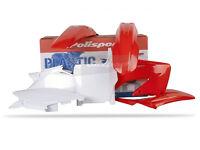 Plastic Kit CR 125/250 04-07 Plastics Polisport Motocross Red