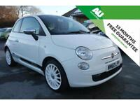 2011 Fiat 500 1.2 POP FULL SERVICE HISTORY in WHITE