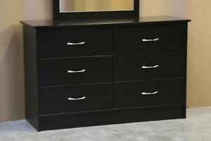 New Espresso Brown 6 Drawer Dresser