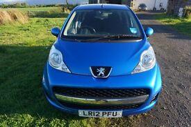 Peugeot 107 urban (2012) - Blue - 1L - Petrol - 51319 miles