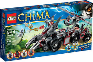 LEGO CHIMA 70009 Worriz's Combat Lair New in Box Discontinued