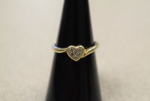 Woman's Heart Shaped 10K Gold Ring (#2984)