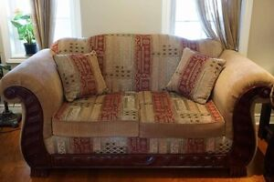 2 Traditional Sofa  with Intricate Carving - barely used