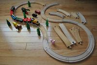 un train en bois de Thomas le petit train